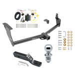 "Trailer Tow Hitch For 09-13 Infiniti FX35 FX37 FX50 Complete Package w/ Wiring and 1-7/8"" Ball"