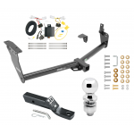 "Trailer Tow Hitch For 09-13 Infiniti FX35 FX37 FX50 Complete Package w/ Wiring and 2"" Ball"