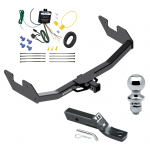"""Trailer Tow Hitch For 16-17 Toyota Hilux Complete Package w/ Wiring and 1-7/8"""" Ball"""