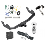 """Trailer Tow Hitch For 16-17 Toyota Hilux Deluxe Package Wiring 2"""" Ball and Lock"""