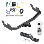 """Trailer Tow Hitch For 16-17 Toyota Hilux Complete Package w/ Wiring and 2"""" Ball"""