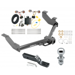 """Trailer Tow Hitch For 14-20 Ford Transit Connect  Complete Package w/ Wiring and 1-7/8"""" Ball"""