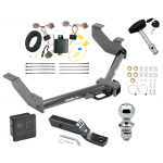 """Trailer Tow Hitch For 14-20 Ford Transit Connect  Deluxe Package Wiring 2"""" Ball and Lock"""