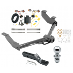 """Trailer Tow Hitch For 14-20 Ford Transit Connect  Complete Package w/ Wiring and 2"""" Ball"""