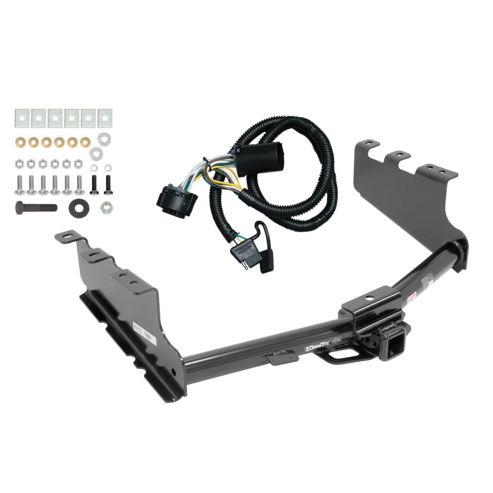trailer tow hitch for 14-18 chevy silverado gmc sierra 1500 w/ wiring  harness kit