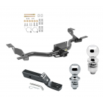 """Trailer Tow Hitch For 14-19 Ram ProMaster 1500 2500 3500 w/Extended Body Receiver w/ 1-7/8"""" and 2"""" Ball"""