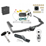 """Trailer Tow Hitch For 14-18 Toyota Highlander Deluxe Package Wiring 2"""" Ball and Lock"""