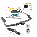 """Trailer Tow Hitch For 14-18 Toyota Highlander Complete Package w/ Wiring and 2"""" Ball"""