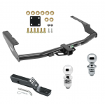 """Trailer Tow Hitch For 14-19 Toyota Highlander 18 Lexus RX350L Receiver w/ 1-7/8"""" and 2"""" Ball"""