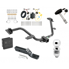 "Trailer Tow Hitch For 15-18 Chevy City Express 13-20 Nissan NV200 Deluxe Package Wiring 2"" Ball and Lock"