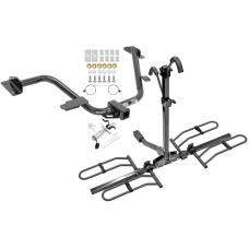 Trailer Tow Hitch For 15-18 Chevy City Express 13-20 Nissan NV200 Platform Style 2 Bike Rack w/ Anti Rattle Hitch Lock