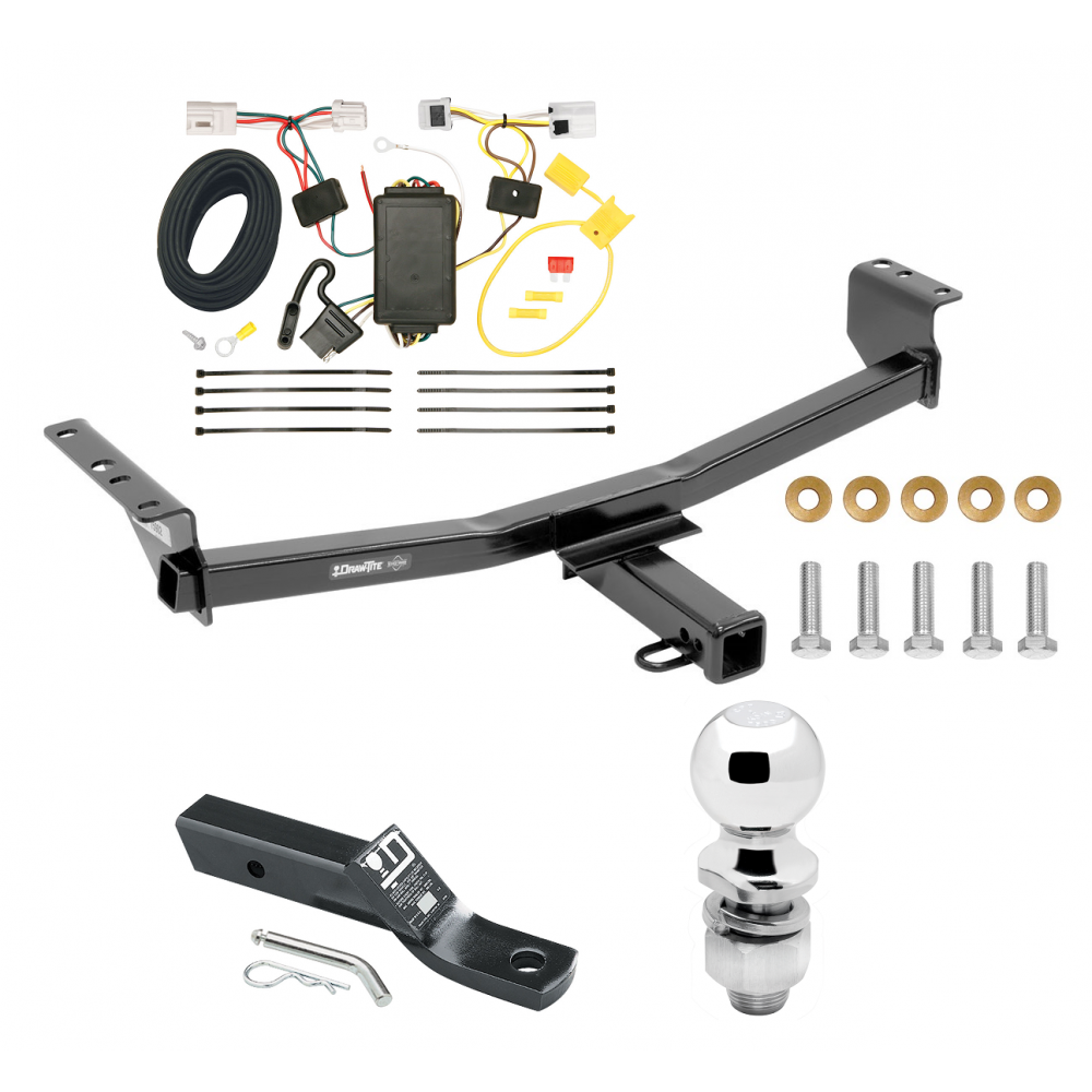 Trailer Tow Hitch For 08-20 Nissan Rogue Complete Package w/ Wiring on