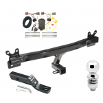 "Trailer Tow Hitch For 08-10 Volvo V70 Wagon Complete Package w/ Wiring and 2"" Ball"