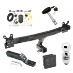 """Trailer Tow Hitch For 08-10 Volvo V70 Wagon Deluxe Package Wiring 2"""" Ball and Lock"""