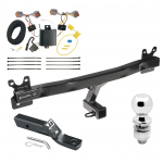"Trailer Tow Hitch For 08-16 Volvo XC70 Complete Package w/ Wiring and 2"" Ball"