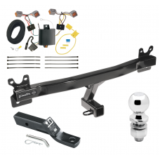 "Trailer Tow Hitch For 15-17 Volvo V60 Complete Package w/ Wiring and 2"" Ball"