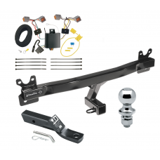 "Trailer Tow Hitch For 15-17 Volvo V60 Complete Package w/ Wiring and 1-7/8"" Ball"