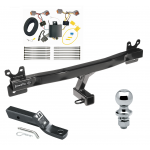 "Trailer Tow Hitch For 14-18 Volvo S60 Sedan Complete Package w/ Wiring and 1-7/8"" Ball"