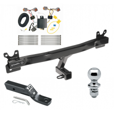 """Trailer Tow Hitch For 08-16 Volvo XC70 Complete Package w/ Wiring and 1-7/8"""" Ball"""