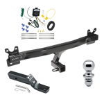 "Trailer Tow Hitch For 11-13 Volvo S60 Sedan Complete Package w/ Wiring and 1-7/8"" Ball"