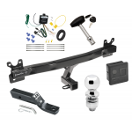 """Trailer Tow Hitch For 11-13 Volvo S60 Sedan Deluxe Package Wiring 2"""" Ball and Lock"""
