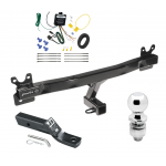"""Trailer Tow Hitch For 11-13 Volvo S60 Sedan Complete Package w/ Wiring and 2"""" Ball"""