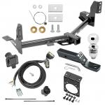 "Complete Tow Package For 15-19 Ford F-150 w/ 7-Way RV Wiring Harness Kit 2"" Ball and Mount Bracket 2"" Receiver"