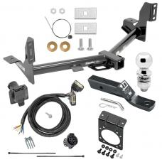 """Complete Tow Package For 15-20 Ford F-150 w/ 7-Way RV Wiring Harness Kit 2"""" Ball and Mount Bracket 2"""" Receiver"""