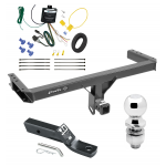 "Trailer Tow Hitch For 11-12 Audi Q5 15-17 Porsche Macan Complete Package w/ Wiring and 1-7/8"" Ball"