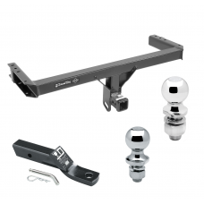 """Trailer Tow Hitch For 11-17 Audi Q5 15-17 Porsche Macan Receiver w/ 1-7/8"""" and 2"""" Ball"""
