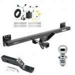 "Trailer Tow Hitch For 11-17 Volkswagen Touareg Complete Package w/ Wiring and 1-7/8"" Ball"