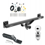 "Trailer Tow Hitch For 11-17 Volkswagen Touareg Complete Package w/ Wiring and 2"" Ball"