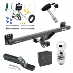 "Trailer Tow Hitch For 07-16 Audi Q7 11-17 Porsche Cayenne Deluxe Package Wiring 2"" Ball and Lock"