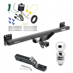 "Trailer Tow Hitch For 07-16 Audi Q7 11-17 Porsche Cayenne Complete Package w/ Wiring and 2"" Ball"