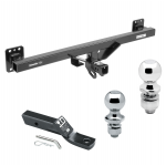 "Trailer Tow Hitch For 07-16 Audi Q7 07-16 Audi Q7 11-17 Porsche Cayenne Volkswagen Touareg Receiver w/ 1-7/8"" and 2"" Ball"