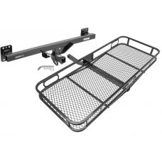 Trailer Tow Hitch For 07-17 VW Touareg Porshe Cayenne Audi Q7 Basket Cargo Carrier Platform w/ Hitch Pin