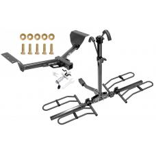 Trailer Tow Hitch For 15-17 Lexus NX200t Platform Style 2 Bike Rack w/ Anti Rattle Hitch Lock