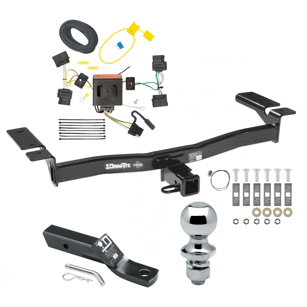 trailer tow hitch for 07-10 lincoln mkx ford edge except sport complete  package w/ wiring