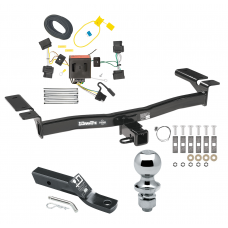 "Trailer Tow Hitch For 07-10 Lincoln MKX Ford Edge Except Sport Complete Package w/ Wiring and 1-7/8"" Ball"
