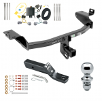 "Trailer Tow Hitch For 2019 Jeep Cherokee Complete Package w/ Wiring and 1-7/8"" Ball"