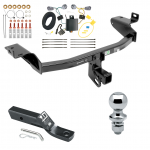 "Trailer Tow Hitch For 14-18 Jeep Cherokee Complete Package w/ Wiring and 1-7/8"" Ball"