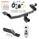 "Trailer Tow Hitch For 14-18 Jeep Cherokee Complete Package w/ Wiring and 2"" Ball"
