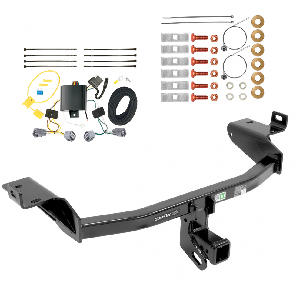 trailer tow hitch for 2019 jeep cherokee w wiring harness kit. Black Bedroom Furniture Sets. Home Design Ideas