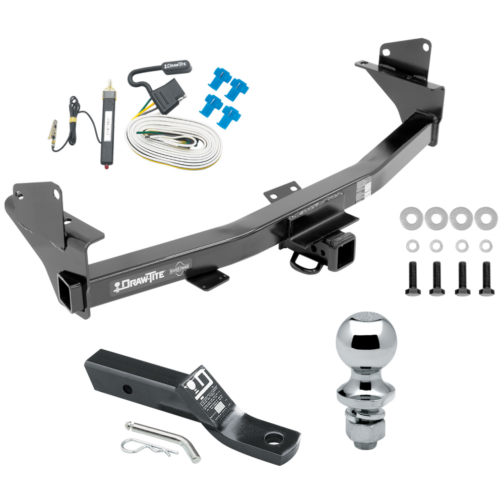 Trailer Tow Hitch For 15 20 Chevy Colorado Gmc Canyon Complete Package W Wiring And 1 7 8 Quot Ball
