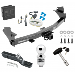 """Trailer Tow Hitch For 15-19 Chevy Colorado GMC Canyon Deluxe Package Wiring 2"""" Ball and Lock"""