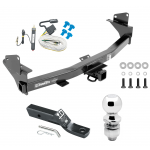 """Trailer Tow Hitch For 15-19 Chevy Colorado GMC Canyon Complete Package w/ Wiring and 2"""" Ball"""