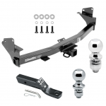 """Trailer Tow Hitch For 15-19 Chevy Colorado GMC Canyon Receiver w/ 1-7/8"""" and 2"""" Ball"""