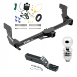 """Trailer Tow Hitch For 16-17 Mercedes-Benz Metris Complete Package w/ Wiring and 2"""" Ball"""