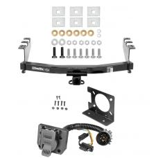 Class 4 Trailer Hitch w/ Wiring Kit For 14-18 Chevy Silverado GMC Sierra 2019 Legacy and Limited 7-Way Pin Blade RV 4-Flat Plug Harness Light w/ Bracket