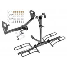 Trailer Tow Hitch For 15-20 Jeep Renegade Platform Style 2 Bike Rack w/ Anti Rattle Hitch Lock